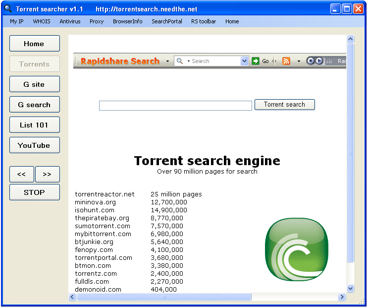 torrent searcher